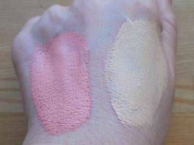 顔ツボ BBクリームの色の比較