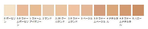ボビィブラウン インテンシブ スキン セラム ファンデーション SPF40(PA++++)の色見本