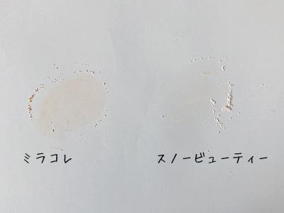 ミラコレとスノービューティーの粉の比較